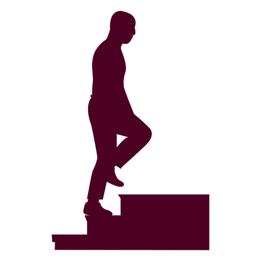 Bald Guy Climbing Stairs Sequence 6 Transparent PNG