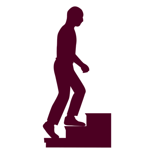 Bald Guy Climbing Stairs Sequence 9 Transparent PNG