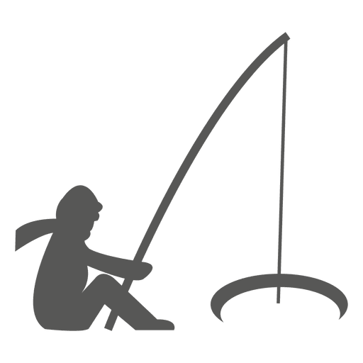 Man fishing icon Transparent PNG