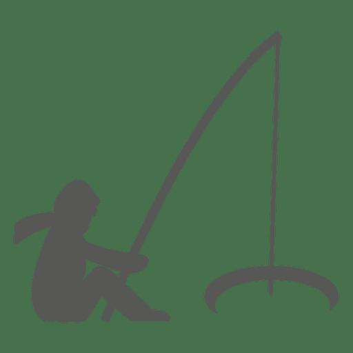 Man fishing icon