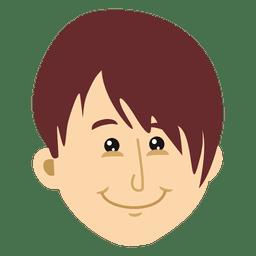 Flat man head cartoon illustration