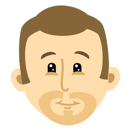 Dibujos animados de cabeza de hombre 2