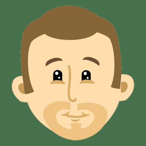 Man head cartoon 2