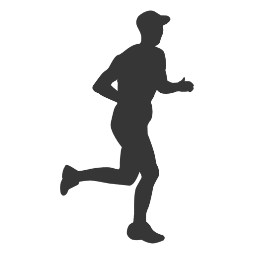 Man jogging silhouette png