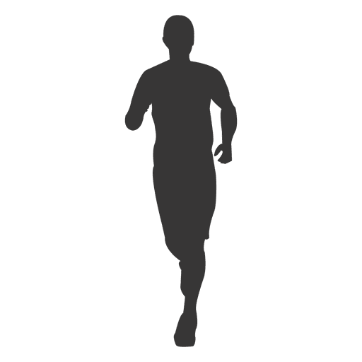 Man jogging silhouette 1 Transparent PNG