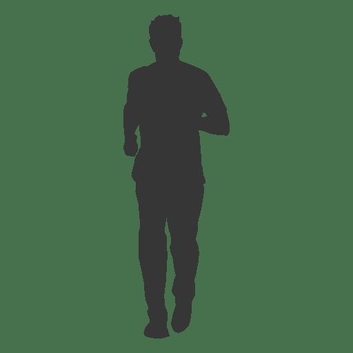 Man jogging silhouette 2 Transparent PNG