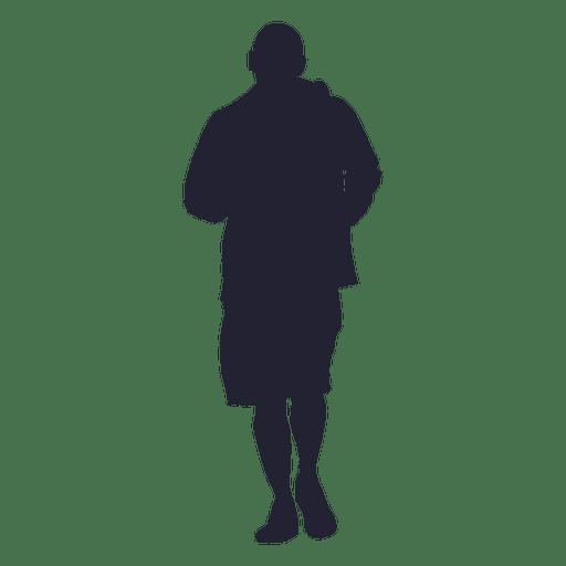 Man jogging silhouette 7 png