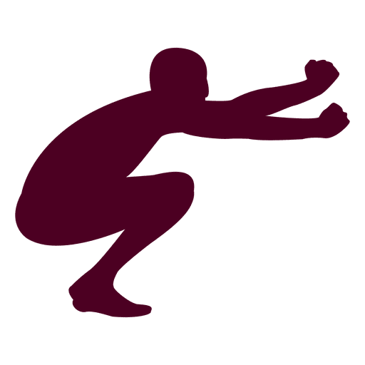 Man jumping motion silhouette Transparent PNG