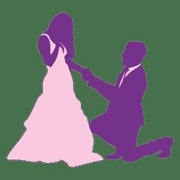 Hombre proponiendo mujer