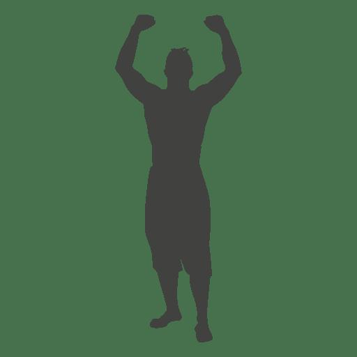 Hombre, levantar, manos, silueta Transparent PNG