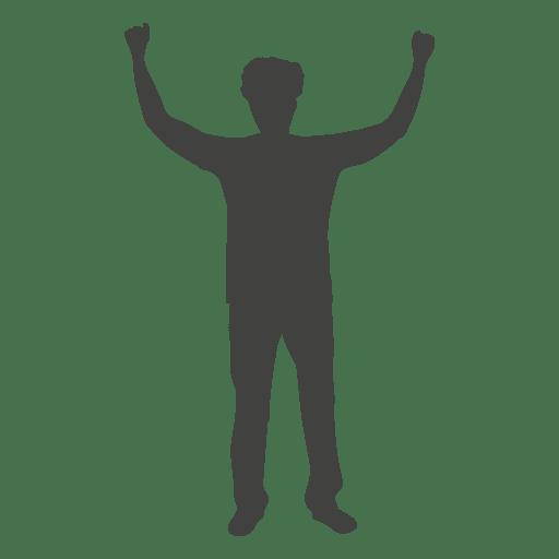 Man Raising Hands Silhouette 1 Transparent Png Svg Vector File Human hand illustration, hand drawing, hand, love, white png. man raising hands silhouette 1