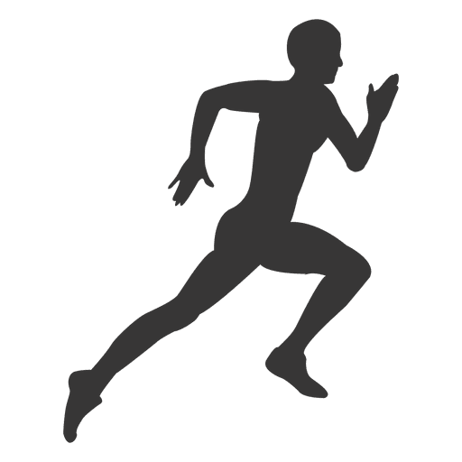 Man running hard silhouette - Transparent PNG & SVG vector