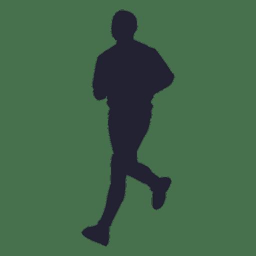 Man running marathon silhouette - Transparent PNG & SVG vector