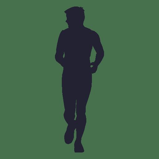Man running marathon silhouette 1 - Transparent PNG & SVG ...