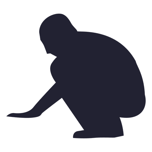 Man sitting down silhouette - Transparent PNG & SVG vector