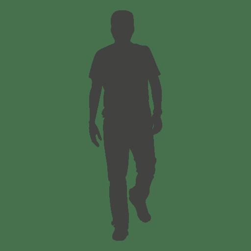 Hombre caminando frente silueta 3
