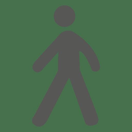 Man walking sign