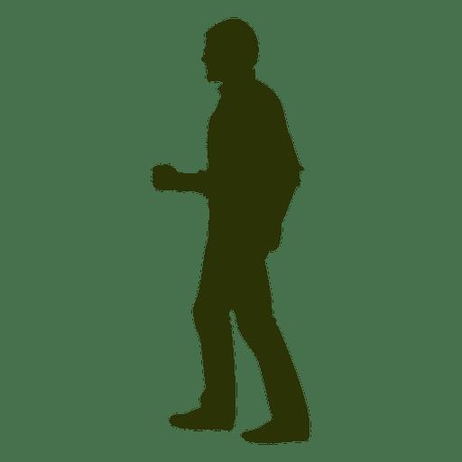 Homem, andar, silueta, fechado, punho Transparent PNG