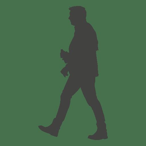Homem, andar, silueta, 11 Transparent PNG