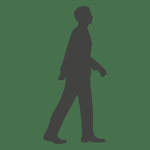 Hombre caminando silueta 13