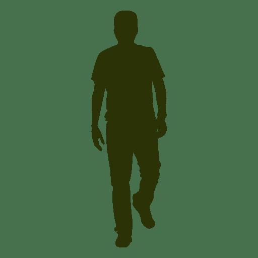 Hombre caminando silueta 8