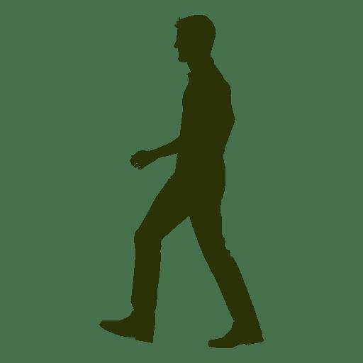 Man walking silhouette 9