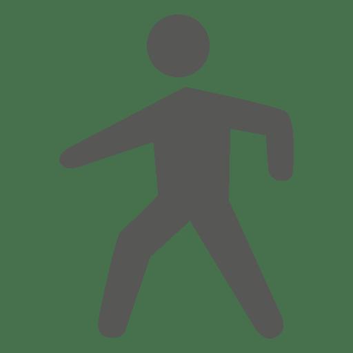 Hombre caminando simbolo Transparent PNG