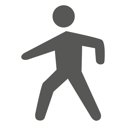 Man walking symbol