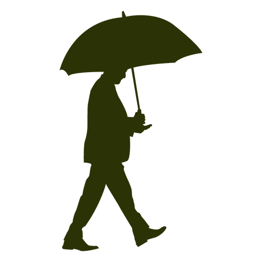 man walking with umbrella 7 transparent png svg vector