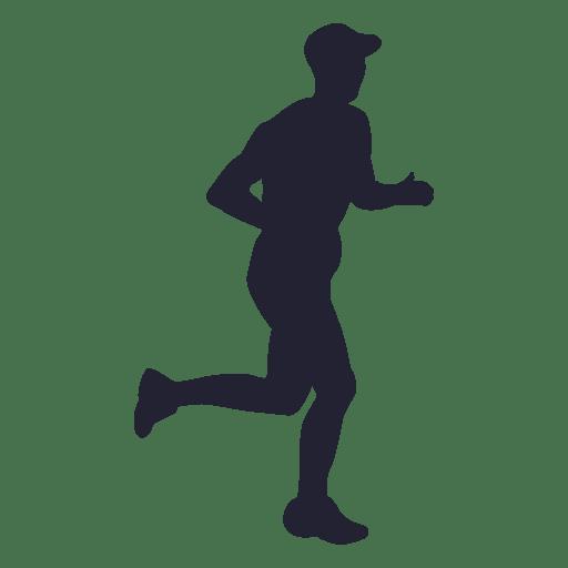 Silueta de atleta de maratón