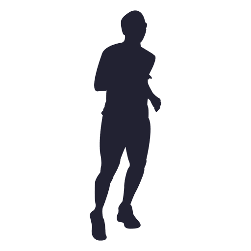 Marathon running male silhouette - Transparent PNG & SVG ...