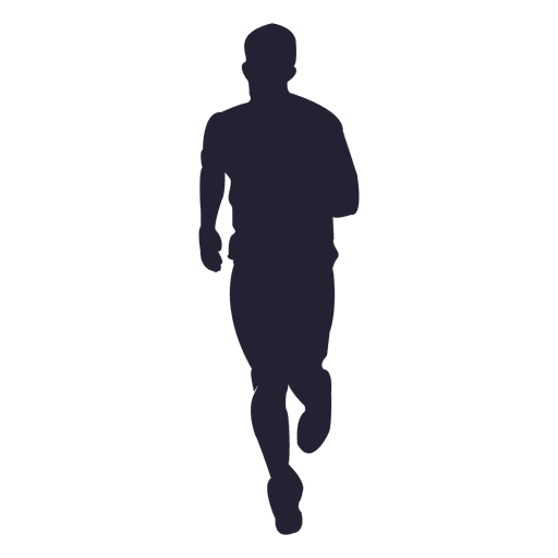 Marathon running silhouette - Transparent PNG & SVG vector