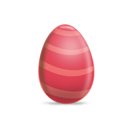 Maroon stripe easter egg