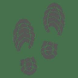 Icono de huella de zapato de hombres