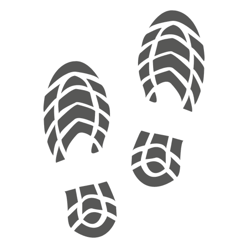 Men shoe footprint icon