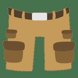 Dibujos animados para hombre medio pantalón