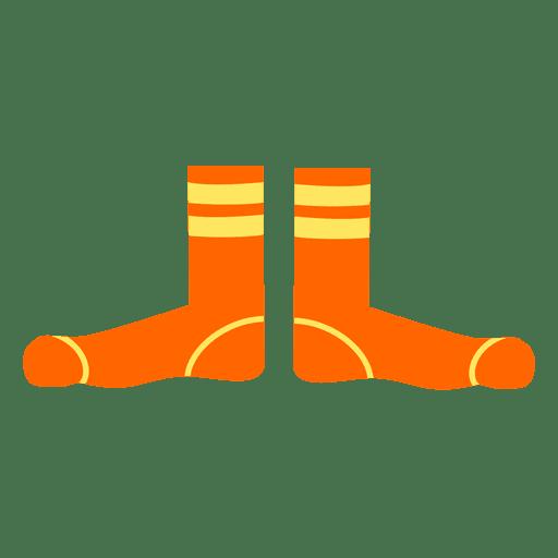 Para hombre de color naranja calcetines de dibujos animados ...