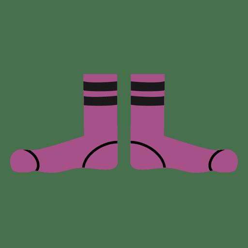 Lila Cartoon der Socken der Männer Transparent PNG