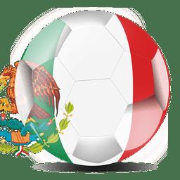 México bola de la bandera