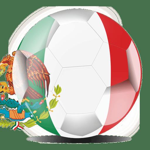 Mexico flag ball Transparent PNG