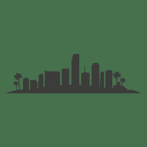Silueta de edificios de Miami