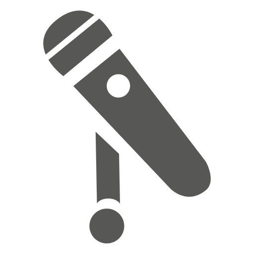 Flat microphone icon Transparent PNG