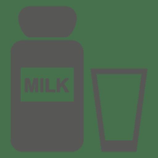 Ícone de vidro de garrafa de leite Transparent PNG