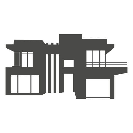 modern house silhouette 1 transparent png svg vector
