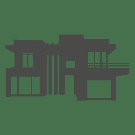 Silhueta moderna casa 1 Transparent PNG