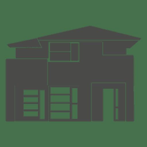 Silueta de la casa moderna 2 descargar png svg transparente for Casa moderna vector