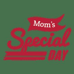 Crachá do dia especial da mamãe