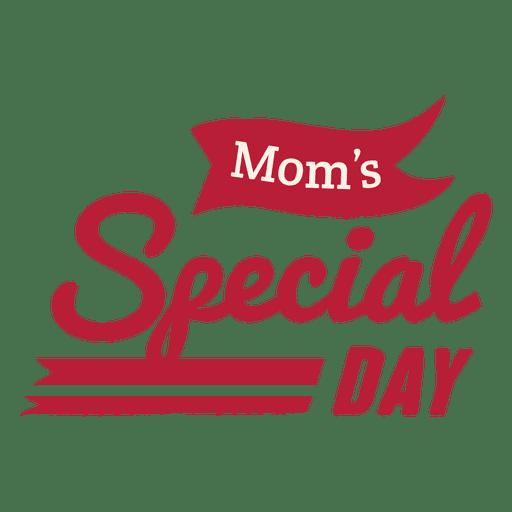 Distintivo do dia especial da mãe Transparent PNG