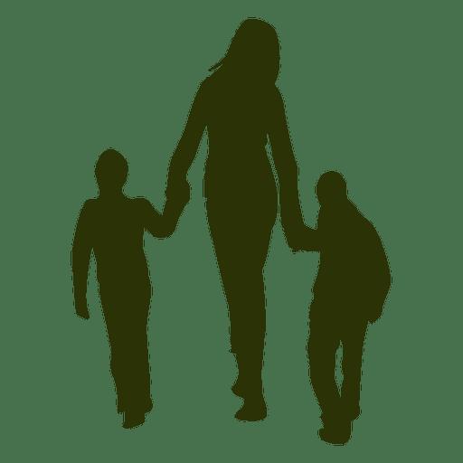 Mamá con silueta de niños