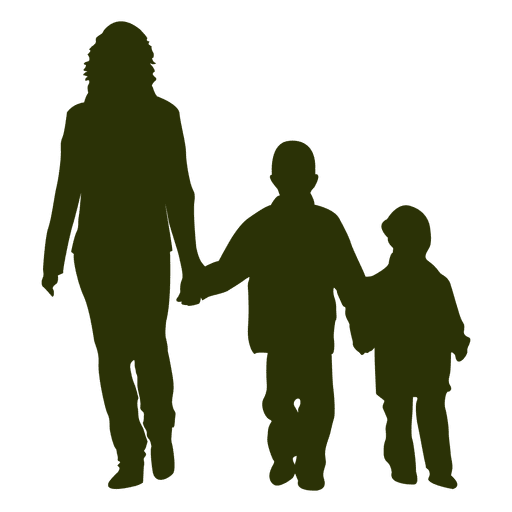 Mom with two sons Transparent PNG